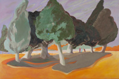 Duel in Fawkner Park 2011 oil on canvas<br /> 60 x 90 cm