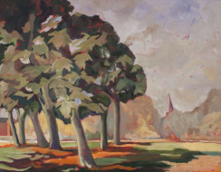 Church in Punt Road 2010 oil on canvas 56 x 72 cm